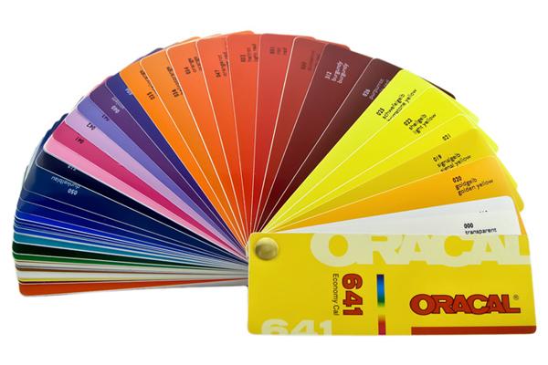 Oracal plėvelės spalvų paletė_Reklamos sfera