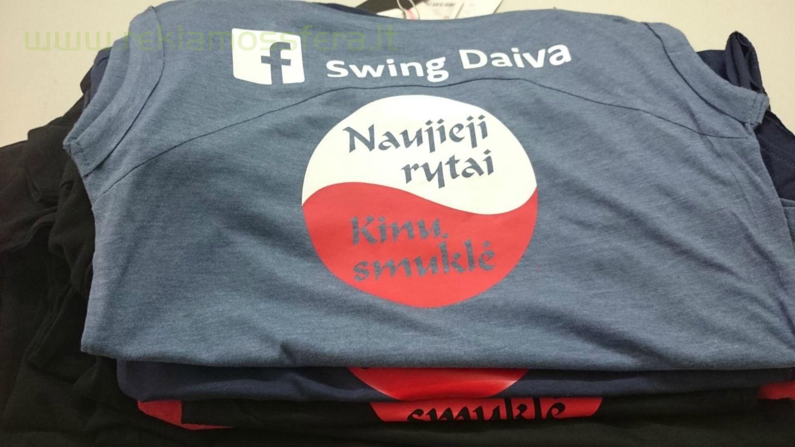 Logotipų užnešimas ant marškinėlių