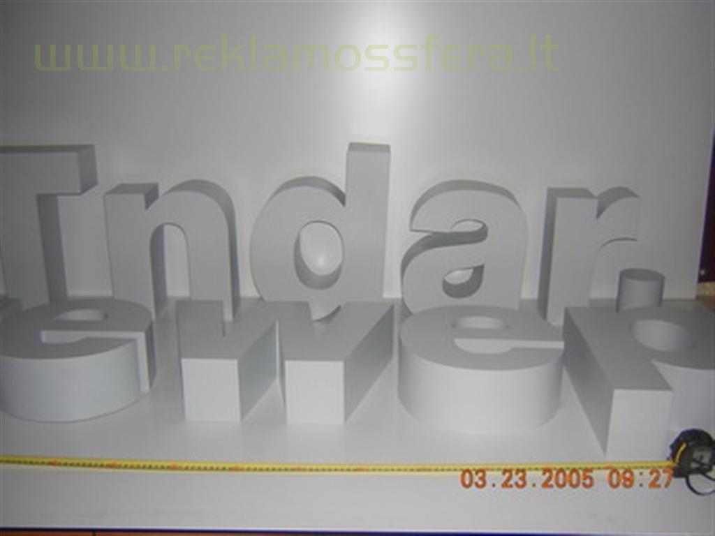 Tūrinių raidžių gamybos etapas
