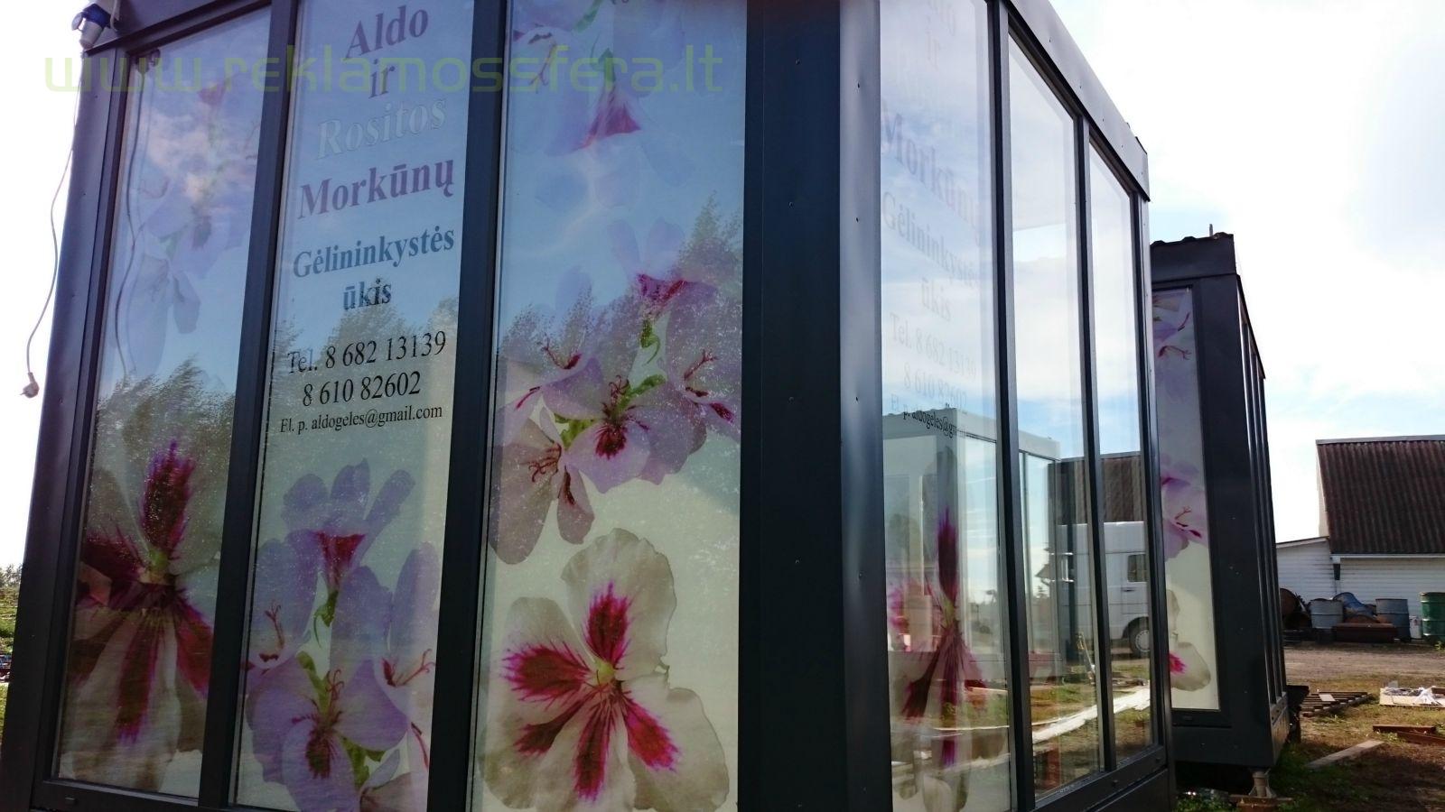 Gėlių prekybos kioskų apipavidalinimas