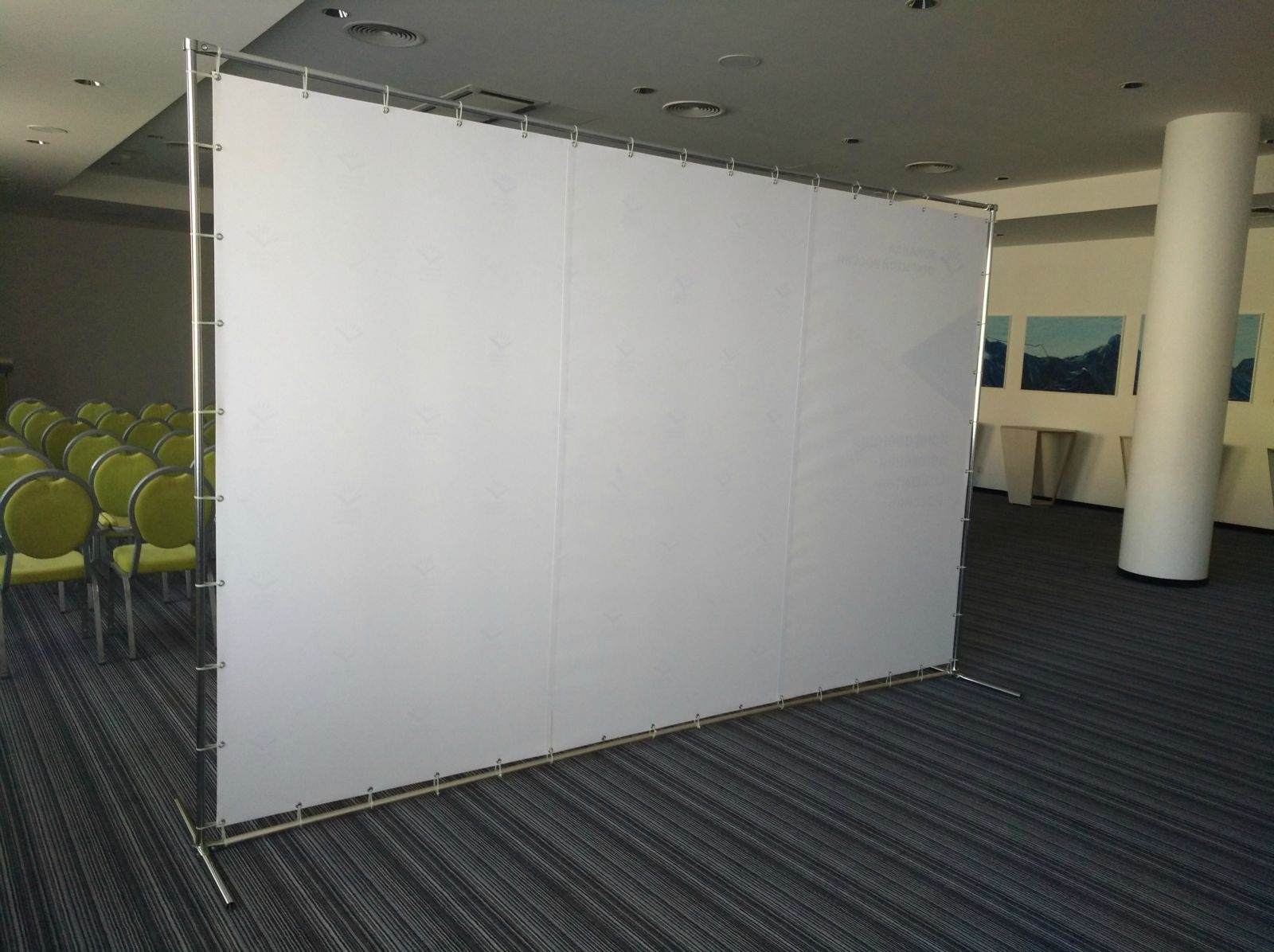 Foto sienelės konstrukcija 3500x2200mm