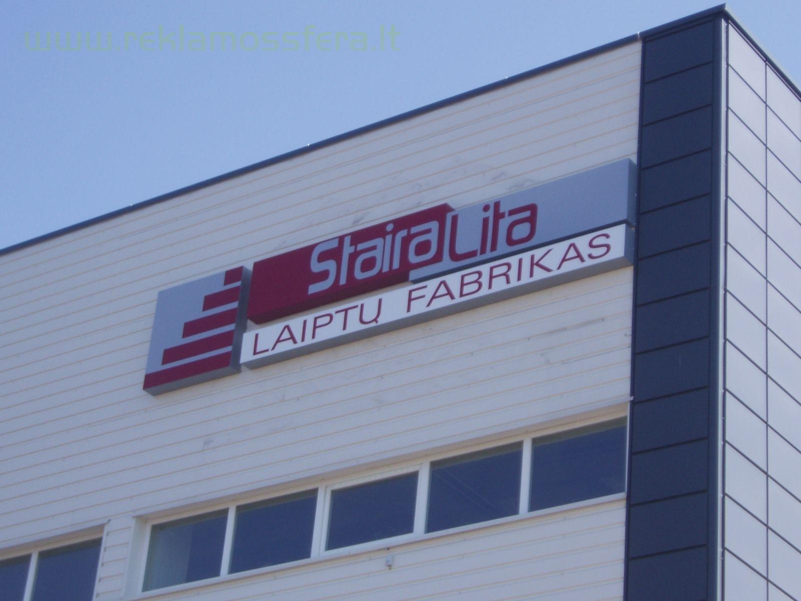 Tūrinis šviečiantis logotipas, gamyba ir montavimo darbai