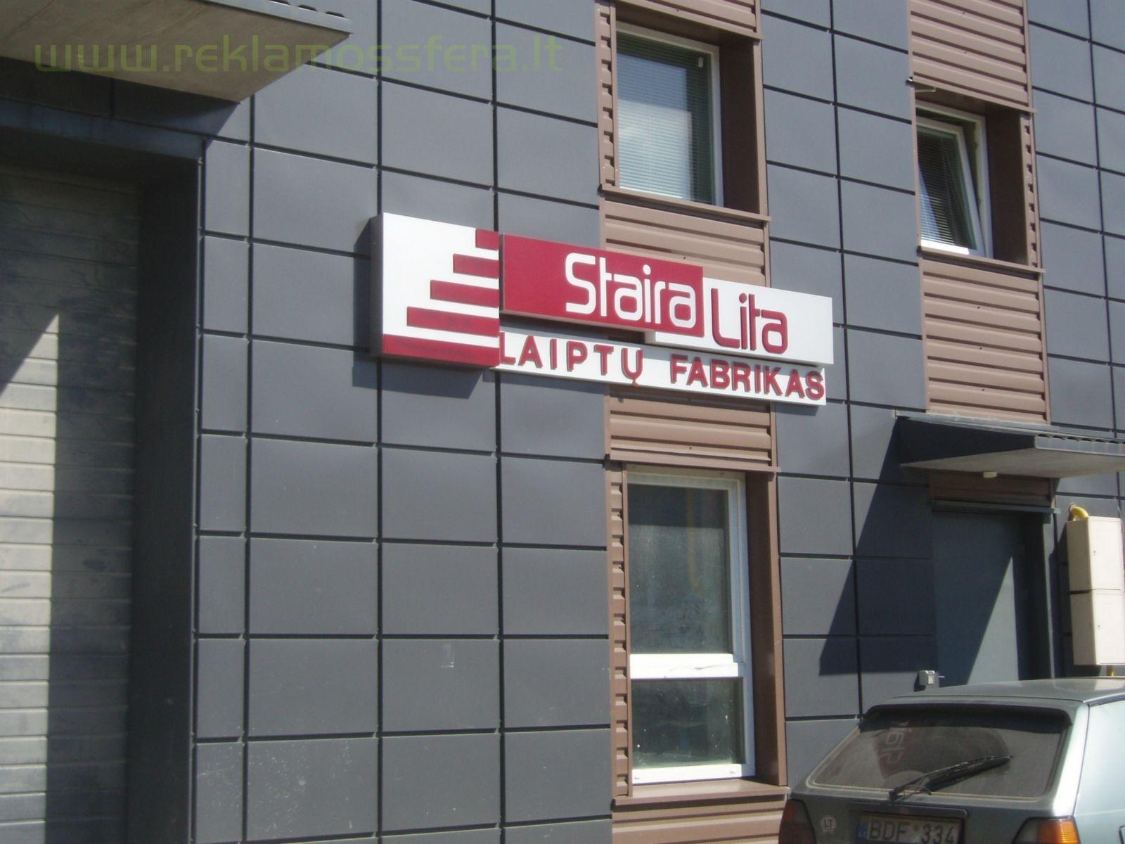 Įėjimo tūrinis šviečianti reklama, gamyba ir montavimo darbai