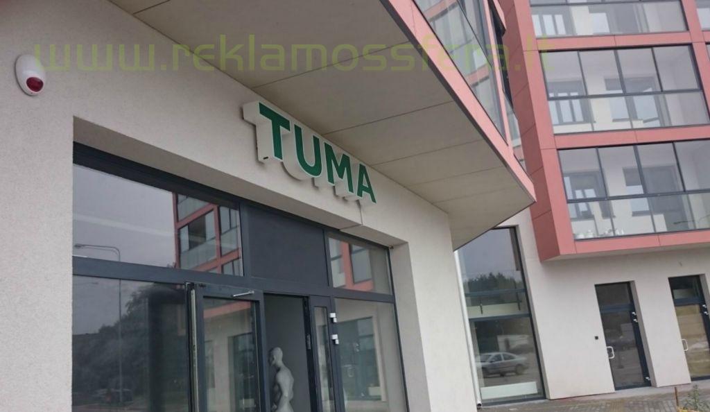 Tūrinis šviečiantis įmonės pavadinimas